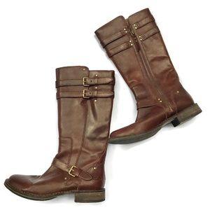 UGG Australia Brown Leather Boots Size USA 9